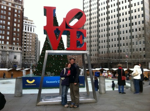 GD and I were engaged two years ago today, so we did a quick trip to Philly to celebrate and I could not resist a photo at the LOVE statue. He changed my life that day, easing the load some ugly baggage that I was hauling around and I'll be forever grateful for that kind act of bending on one knee and making me whole again.
