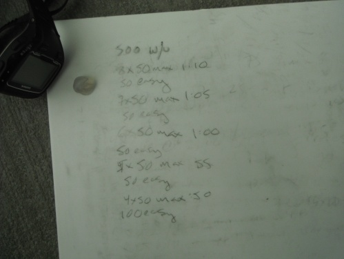 Here it is! Many sets of 50s - the reps would go down, but so would the  rest period. Bring it!!