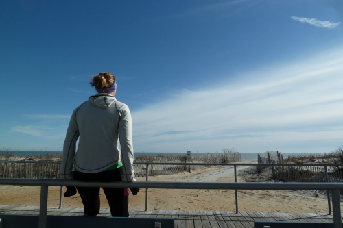 Lil Sis loves the bench at 18th Street at the end of a run to take in the day, be grateful for the life she has and, in times of strife, to remind herself that everything is going to be all right. It was hard not to believe that on a day as beautiful as this.